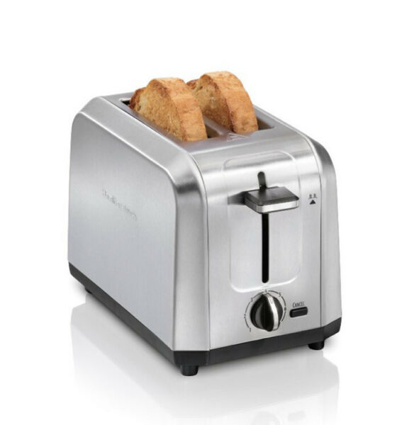Hamilton Beach Classic 2 Slice Toaster Stainless Steel New Free Shipping