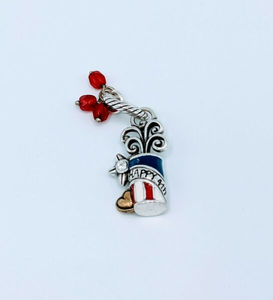 Brighton Silver Red Blue White 4th Of July Fireworks Charm NWOT $20.99