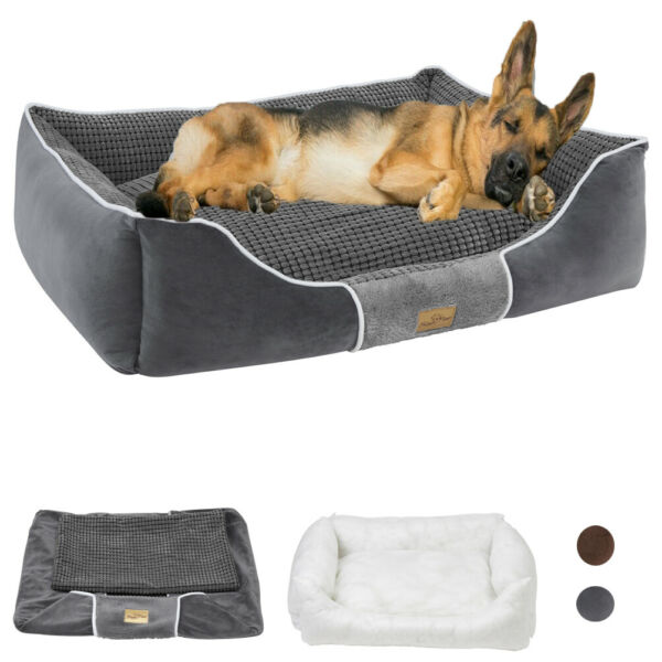 Luxury Large Orthopedic Dog Bed 8 in Quilted Bolstered Sofa XL Pet Dog Bed Jumbo $66.92