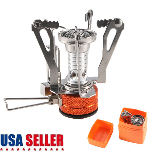 Mini Butane Propane Canister Stove Burner Camping Cooking Foldable Hiking USA
