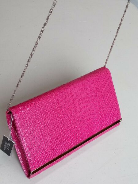 BELLA COLLECTION  Womens Juniors Large Envelope Fushia Clutch Purse Bag