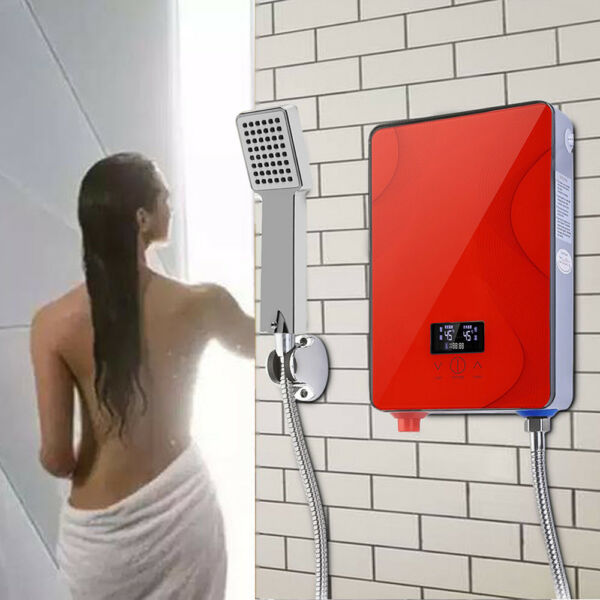 New Instant Electric Tankless Hot Water Heater Set Bathroom Shower Kitchen 220V $68.91
