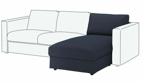 VIMLE CHAISE COVER IKEA ARTICLE # 003.511.11 Orrsta Black Blue SLIPCOVER ONLY $69.95