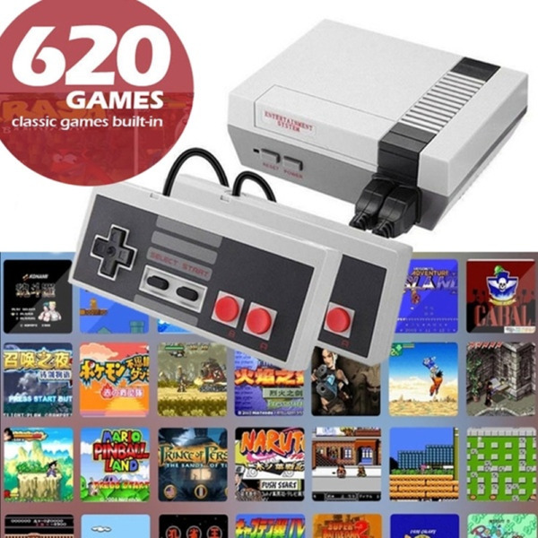 Mini Game Retro Vintage Console 620 Game TV Video 2 Controller For Nes $22.69