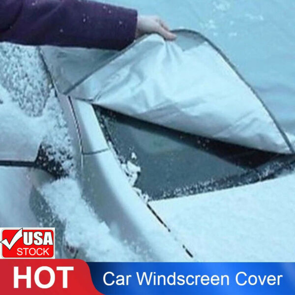 Windshield Cover Snow Ice for Car Frost Guard Winter Protector Magnetic Auto ly $6.66