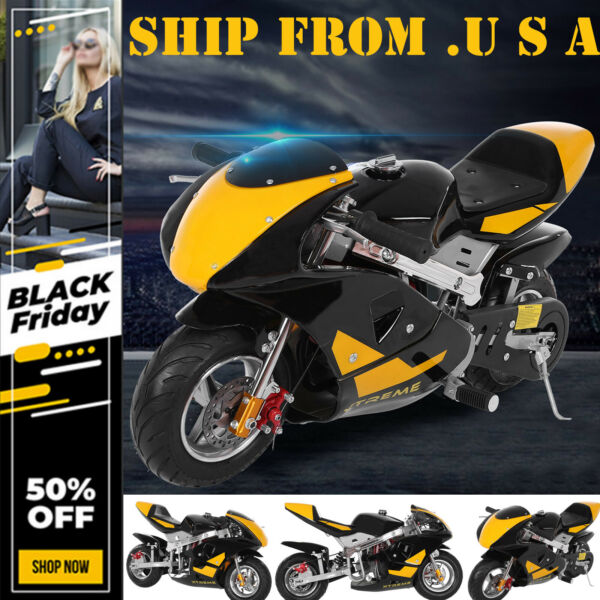 High Performance Mini Motorcycle 4 Stroke 40cc Pocket Mini Bike Boys Girls Gifts $310.19