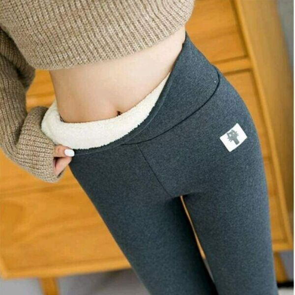 Womens Fleece Lined Leggings Winter Warm High Waist Thermal Thick Pants Trousers
