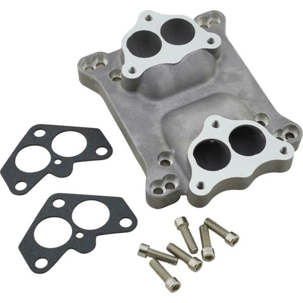 Speedway Motors Dual Stromberg Carbs to 4 Barrel Intake Manifold Adapter Plate $106.48