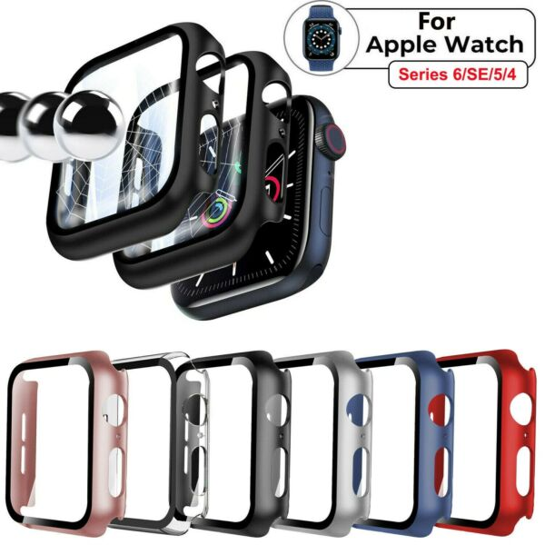 For Apple Watch Series 6 5 4 SE 3 2 1 iWatch Screen Protector Case Snap On Cover $6.67