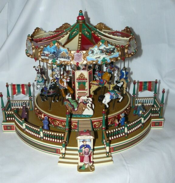 Vintage 1997 Mr. Christmas Holiday Around the Carousel Animated 30 Songs MIB