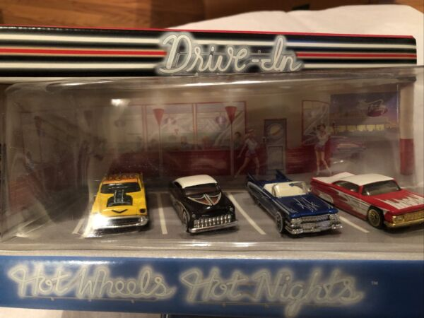 1999 Hot Wheels Hot Nights Drive In TARGET EXCLUSIVE 4 car set MINT IN PACKAGE $9.99