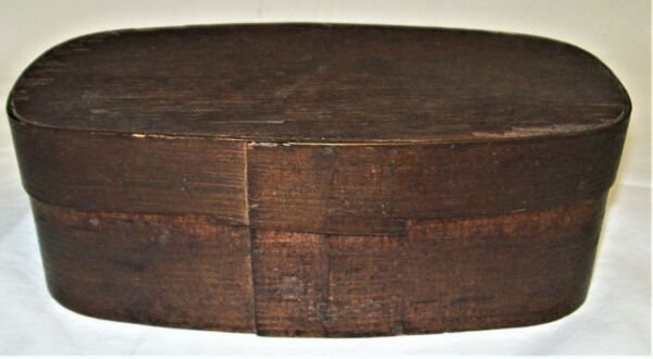 ANTIQUE PANTRY BOX SMALL BENTWOOD WITH LID