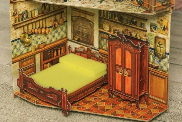 Furniture for Dolls Bedroom Furnishing Dollhouse Room Miniature 1 12 CARDBOARD $11.00