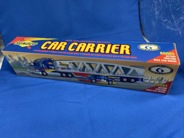 Sunoco Gold 1999 Series 6 Car Carrier Truck Limited Edition Serialized BNIB $29.98