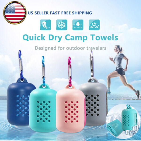 Cooling Towel Ice for Sports Workout Quick Drying Yoga Camping Hiking Camping $5.99