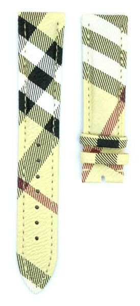 20mm Genunie Leather Fits For Burberry BU9360 Watch Strap Band 329BRR $24.99