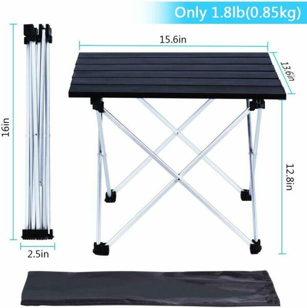 Portable Camping Table Lightweight Folding Table for Outdoor Cooking wIth Bag
