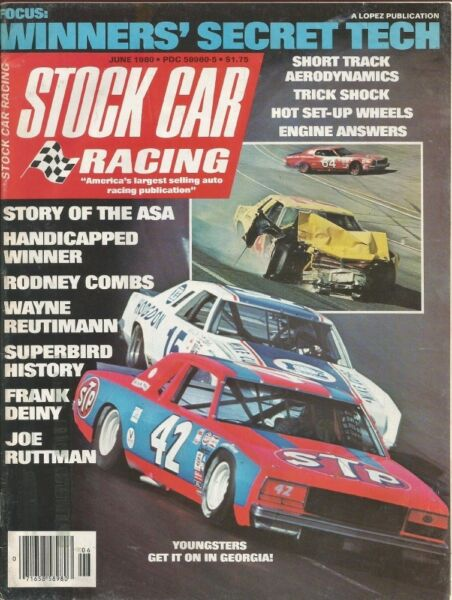 STOCK CAR RACING 1980 JUNE SUPERBIRDS DON WILLIAMS Mad Dog Wheels Deiny $8.49
