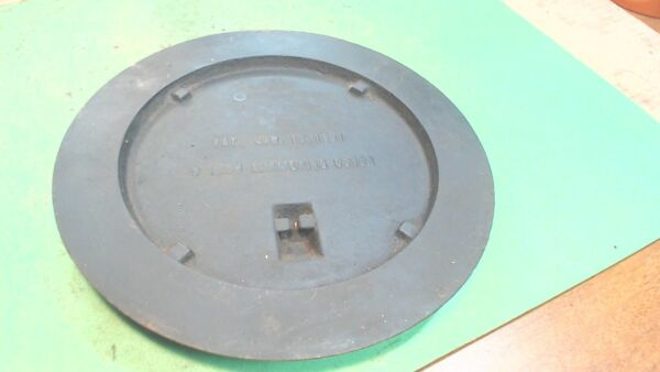 Vintage Cast Stove Cover Plate 1 2 of set No Insert