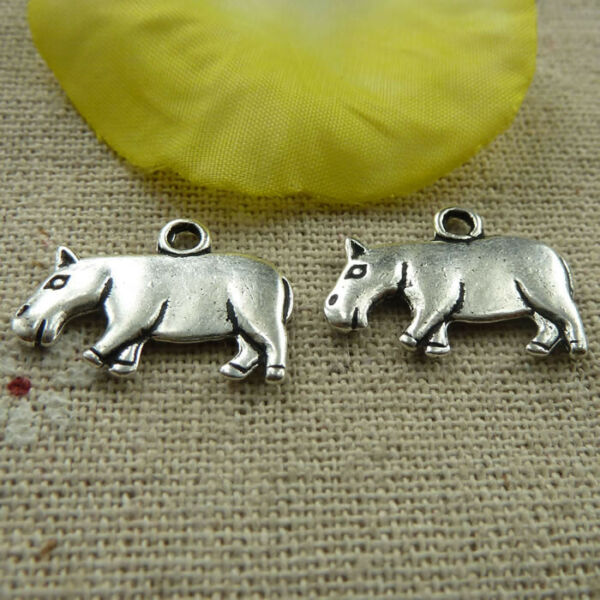 Free Ship 86 pieces tibetan silver cattle charms 21x15mm L 4090 $9.99