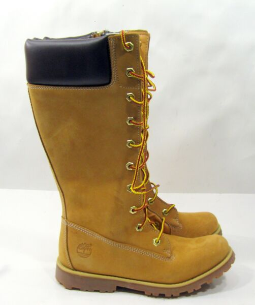 new Timberland Winter Wheat Leather KNEE Boots US WOMEN Size 5 $140.57