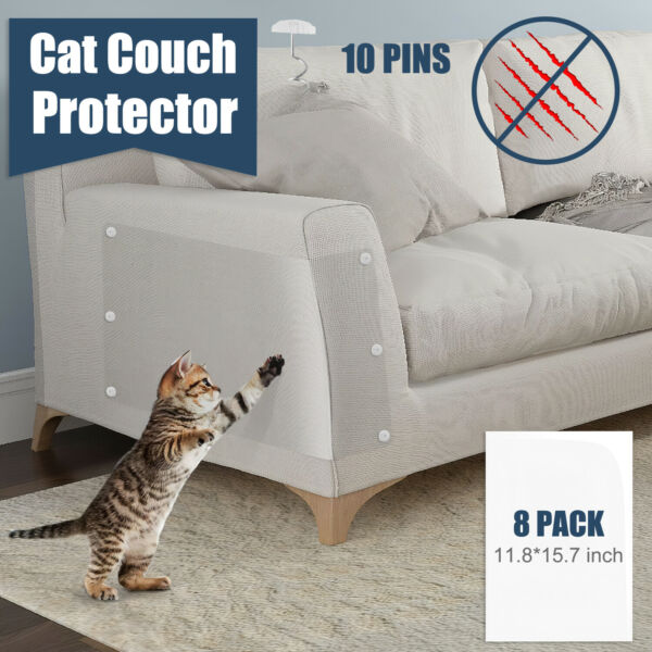 8PC Cat Furniture Protectors Cat Anti Scratch Guards Couch Sofa Protector Pad $14.93