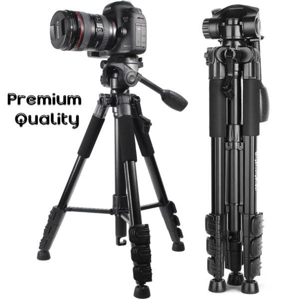 63#x27;#x27; DSLR Camera Tripod Stand Holder Mount Phone Tripod with Bluetooth Remote