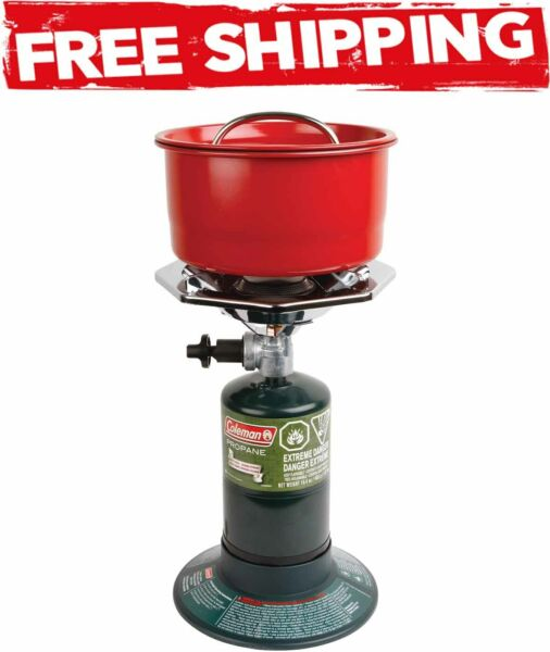 Coleman Portable Bottletop Propane Gas Stove with Adjustable Burner Outdoor New