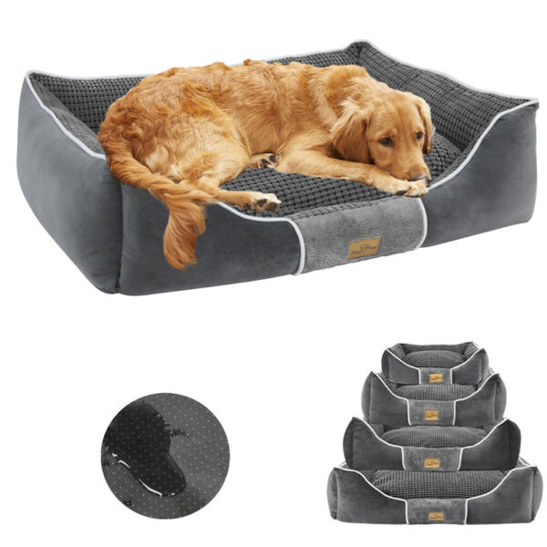 Waterproof Extra Large Dog Bed Heavy Duty Orthopedic Pillow Bed Soft Pet Lounger $17.92