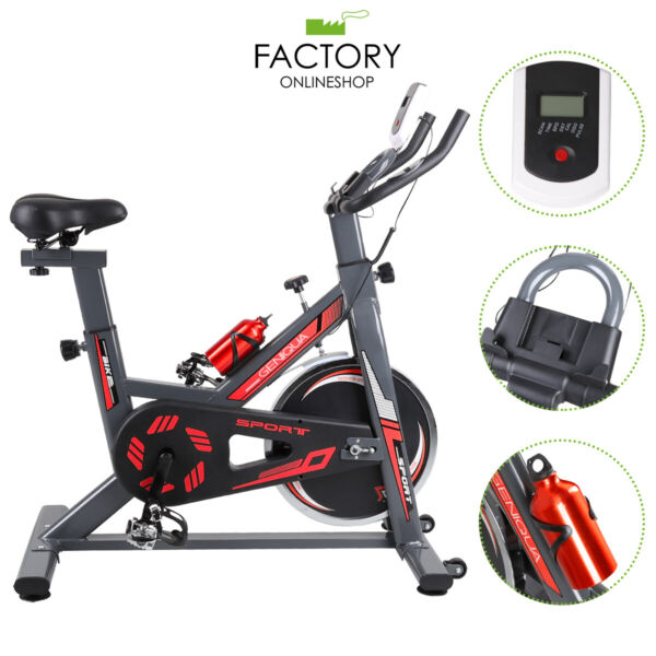 Exercise Bike Bicycle Pro Stationary Cycling Fitness Workout Gym Training Cardio $170.01