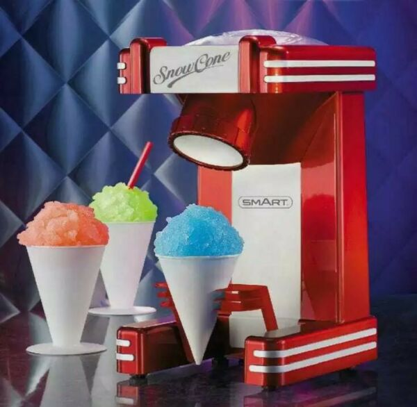 Nostalgia Electrics Retro Series 50#x27;s Style Single Snow Cone Maker Red RSM702