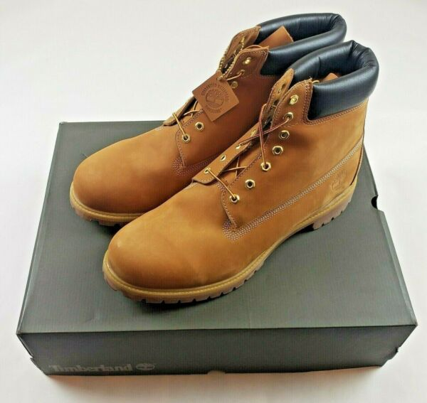 TIMBERLAND Premium 6 Inch Waterproof Leather BOOT Wheat Nubuck SIZE 17 NEW Mens $109.50
