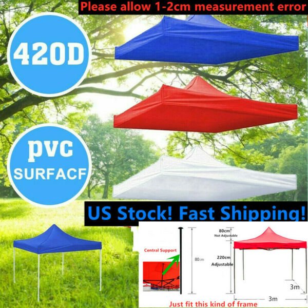 10x10ft Canopy Top Replacement Outdoor Gazebo Waterproof Sunshade UV Tent Cover