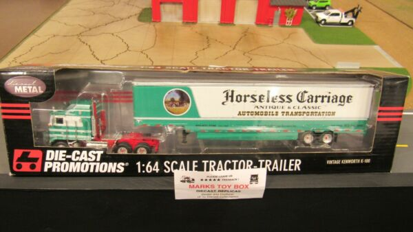 DCP#33028 HORSELESS CARRIAGE KW K100 COE CAR CARRIER MOVING VAN TRAILER 1:64 PL $294.95