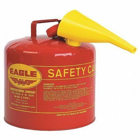 Eagle Ui50fs 5 Gal. Red Galvanized Steel Type I Safety Can For Flammables $47.03