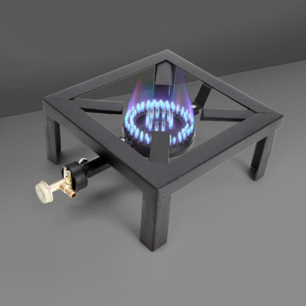 Outdoor Portable Single Burner Camp Stove Cast Iron Propane Gas LPG BBQ Cooker
