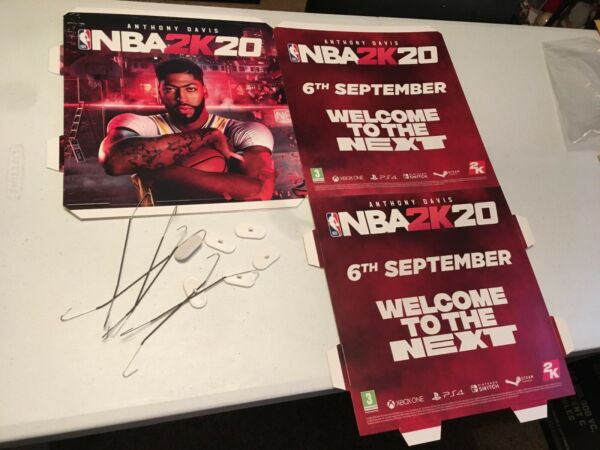 ANTHONY DAVIS NBA 2K20 ADVERTISING SQUARE WITH HANGERS UNIQUE FOR THE AD FAN $19.10