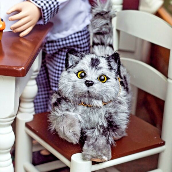 The Queen#x27;s Treasures GREY KITTY CAT Accessory Pet For 18 quot; American Girl Dolls $13.99