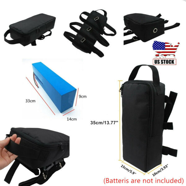 MTB Electric Scooter Bag Lithium Battery Bag ebike PVC Battery Front Rear Bag $26.00
