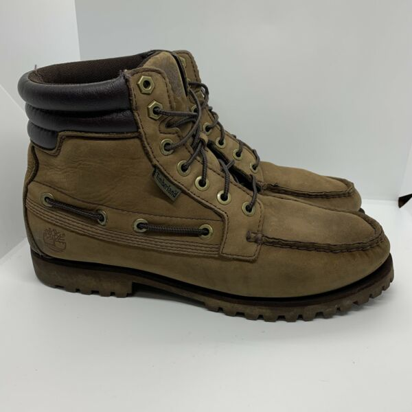 Mens Timberland Work Boots Size 9.5 W Brown Leather 6306R 10740 $42.49