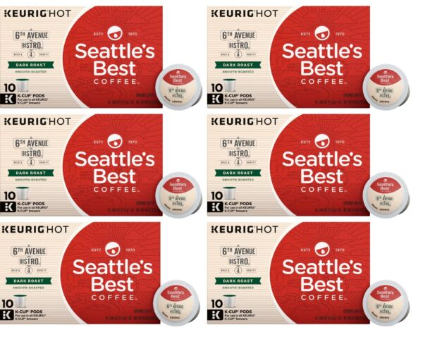 Seattle#x27;s Best Coffee 6th Avenue Bistro Keurig K Cups 60 Count BBD 7 2020