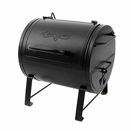 Char Griller E82424 Side Fire Box Charcoal Grill Black