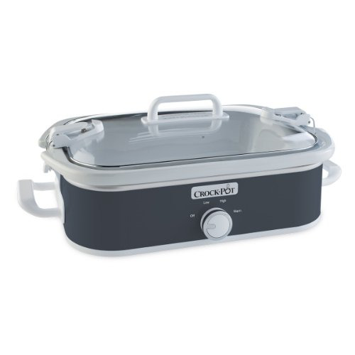 Crock Pot 3.5 Quart Casserole Manual Slow Cooker Charcoal