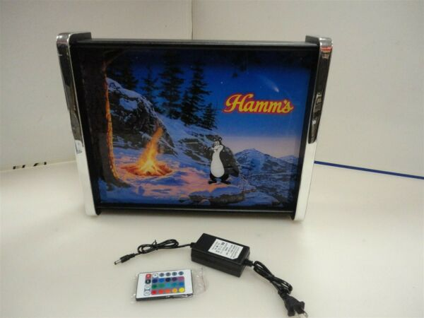 Hamms Beer Bear Starry Night Scene LED Display light sign box