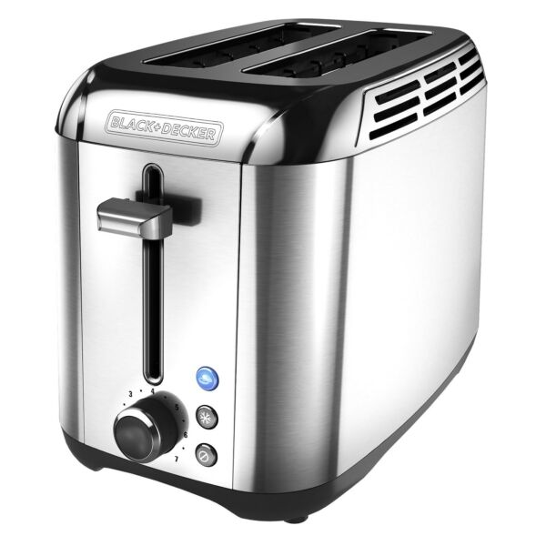 BLACKDECKER Rapid Toast 2 Slice Toaster Stainless Steel TR3500SD