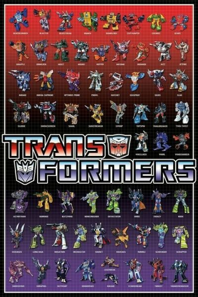 Transformers Cast 24 X 36 Poster New Full Color