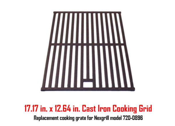 BBQ Grill Grate Cast Iron Grid Outdoor Camping Barbecue Cooking 17.17 x 12.6 in.