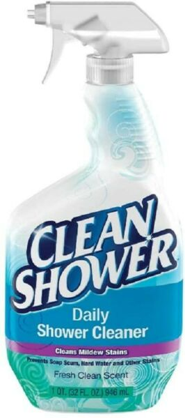 Clean Shower Daily Shower Cleaner Spray with Fresh Clean Scent Scrub Free 32oz