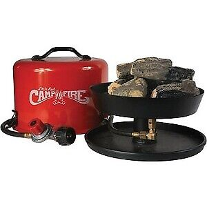Camco Little Red Campfire 11.25quot; Portable Propane Outdoor Camp Fire