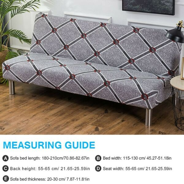 Armless Stretch Sofa Bed Cover Folding Elastic Futon Slipcover Couch Cover NEW $20.89